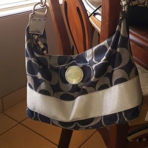 Denim Coach Handbag